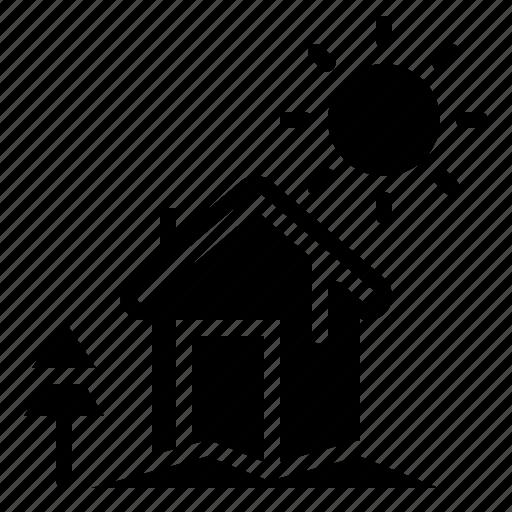 christmas, cottage, house, landscape, winter, xmas icon