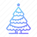 christmas, decorations, nature, snow, star, tree, winter icon