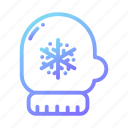 christmas, gloves, hands, mittens, snow, snowflakes, winter icon