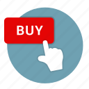 button, buy, checkout, convenient, easy, hand, interactive, push, touch icon