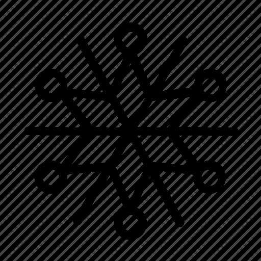 christmas, cloudy, snow, snowflake, weather icon
