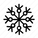 christmas, cloudy, snow, snowflake, weather icon