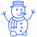christmas, santa, snow, snowman, winter, xmas icon