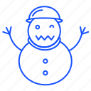christmas, snow, snowman, winter, xmas icon