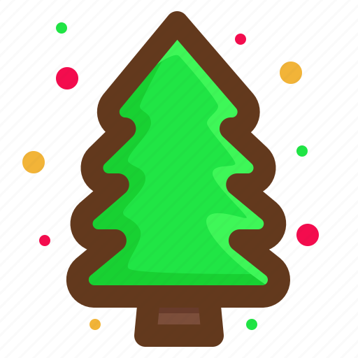 christmas, green, santa, tree icon