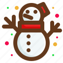 christmas, santa, snow, snowman icon