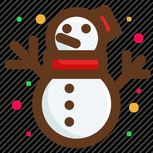 christmas, santa, snow, snowman icon