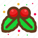 christmas, decoration, leaves, santa icon