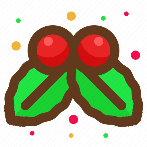 christmas, decoration, leaves, santa icon