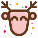 christmas, deer, happy, santa icon