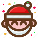 christmas, happy, santa, smile icon