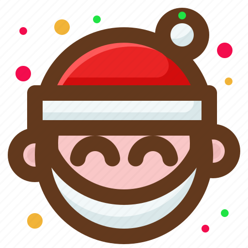 Christmas, happy, santa, smile icon - Download on Iconfinder