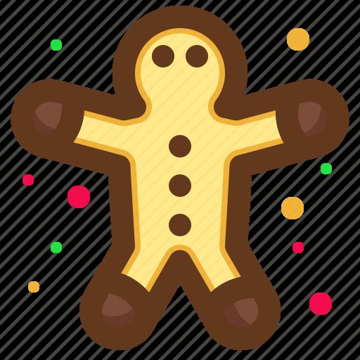 christmas, gingerbread, santa, snack icon