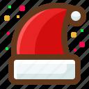 hat, christmas, santa, winter icon