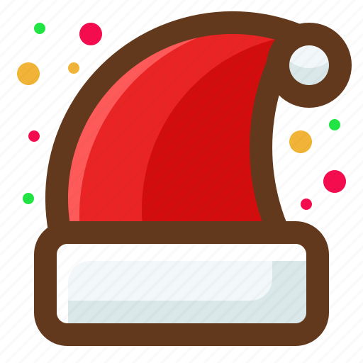 christmas, hat, santa, winter icon
