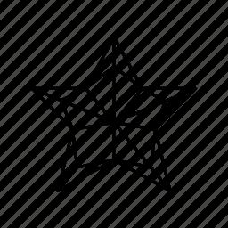 christmas decoration, pentagon, prize, star, star outline, tree christmas star, winter holiday icon