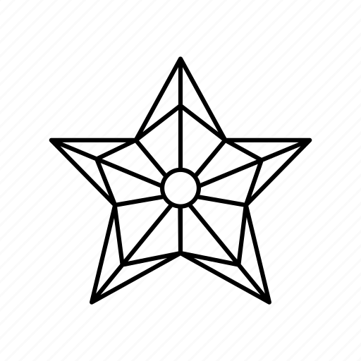 christmas decoration, cold, pentagon, star, star lamp, star outline, stars icon