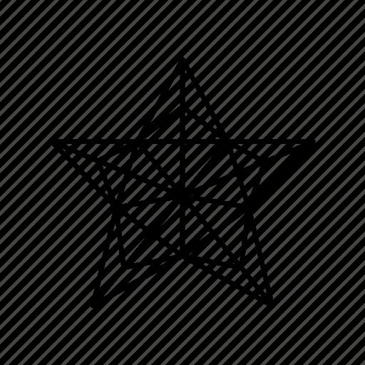 christmas, christmas tree, christmas tree star, origami, outline star, pentagon, star icon