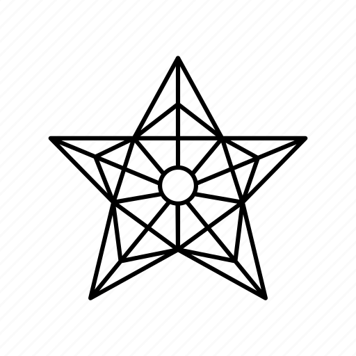 celebration, christmas, christmas star, decoration, pentagon, star, star outline icon