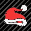 christmas, christmas hat, hat, santa's hat icon