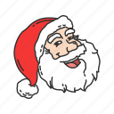 gift, santa, santa claus, santa's laughing icon