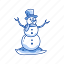 christmas, snow, snow man, winter icon
