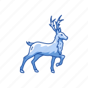 animal, deer, reindeer, santa claus icon
