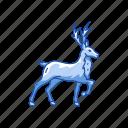animal, deer, reindeer, santa claus