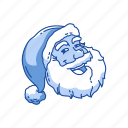 christmas, old man, santa claus, santa's hat icon