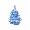 christmas tree, decoration, pine tree, tree icon