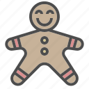 christmas, decoration, gingerbread, winter, xmas icon