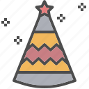 christmas, decoration, hat, party, xmas icon