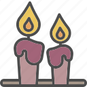 candle, christmas, decoration, light, xmas icon
