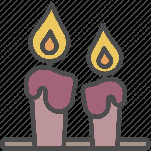 candle, christmas, decoration, light, xmas icon