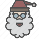 christmas, oldman, santa, winter, xmas icon