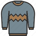 christmas, knitwear, shirt, sweater, winter, xmas icon