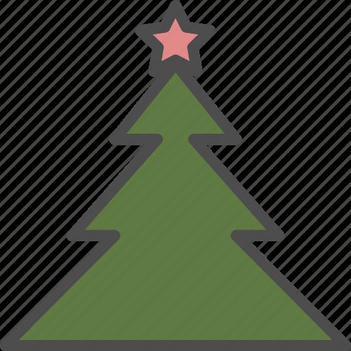 christmas, holiday, pine, star, tree, xmas icon
