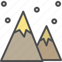 christmas, mountain, snow, winter, xmas icon