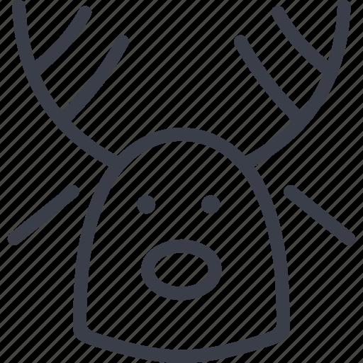 christmas, deer, holiday, winter, xmas icon