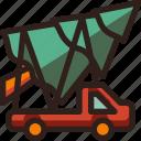 big, christmas, holidays, newyear, tree, truck icon