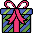 christmas, father christmas, present, xmas icon