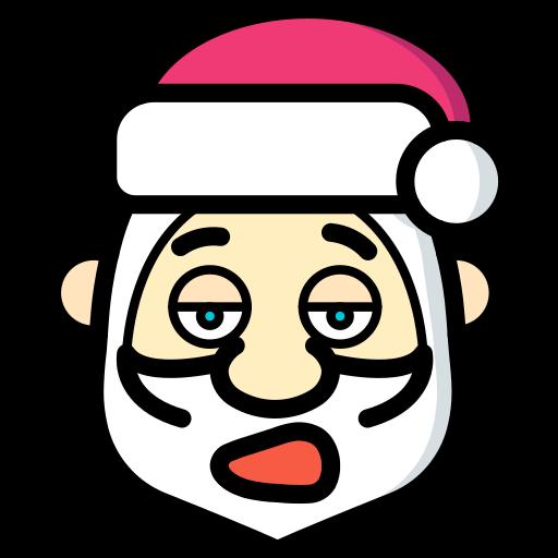christmas, father christmas, santa, tired, xmas icon