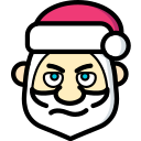 christmas, cross, father christmas, santa, xmas icon