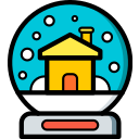 christmas, globe, snow, xmas icon