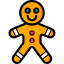 christmas, gingerbread, man, xmas icon