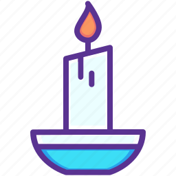 candle, christmas, glow, light, new year, winter icon