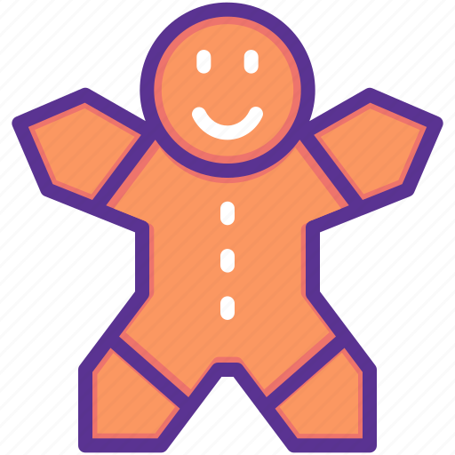 bake, christmas, cookie, gingerbread, man, new year icon