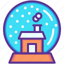 ball, christmas, crystal, gift, house, present, snow icon