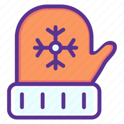 christmas, cold, gloves, new year, wear, winter icon