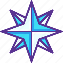 christmas, light, new year, northern, pole, star, twinkle icon
